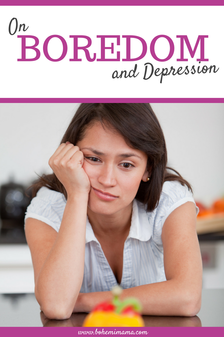 Boredom can aggravate your depression symptoms. It sure does mine. And it's been one of those weeks, can you relate?