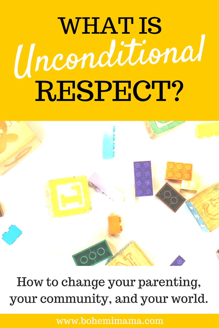 You're probably familiar with unconditional love, but what about unconditional respect? It's a respect you don't have to earn and you can't lose. Find out how this kind of respect can revolutionize your parenting, your community, and the world. Click the image to learn more.