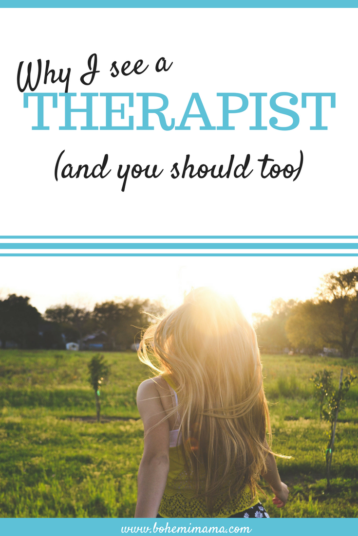 Therapy quite literally saved my life, but it's not a popular topic of conversation. I'm here to tell you I see a therapist every month. I pay cash to talk to her and I believe you, Tired Mama, should too. Here's why.